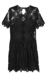 Кружевное мини-платье свободного кроя Burberry Prorsum