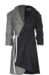 Платье асимметричного кроя с запахом и V-образным вырезом Jacquemus