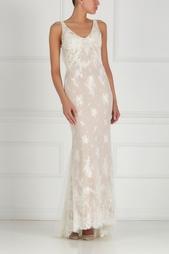 Платье с вышивкой и жемчугом Natasha Bovykinа