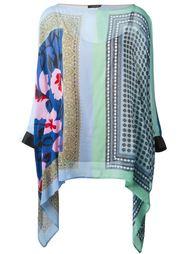 блузка-пончо с комбинированным принтом Twin-Set