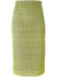 юбка-карандаш с вышивкой Marco Bologna