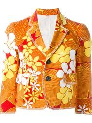 джинсовая куртка с цветочным принтом  Dsquared2
