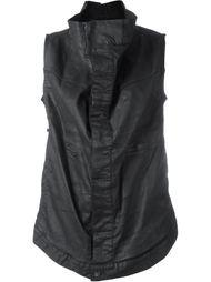 куртка без рукавов с высоким воротом  Rick Owens DRKSHDW