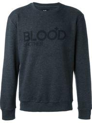 свитер с принтом логотипа  Blood Brother