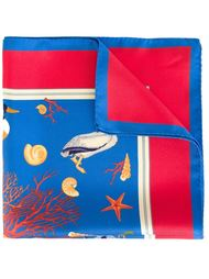 нагрудный платок с принтом кораллов Kiton