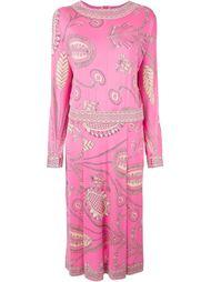 платье с длинными рукавами Emilio Pucci Vintage