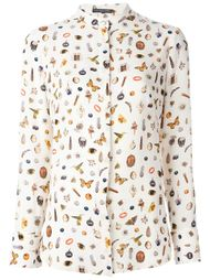 рубашка с принтом 'Obsession' Alexander McQueen