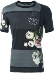 футболка с цветочным принтом Dolce & Gabbana