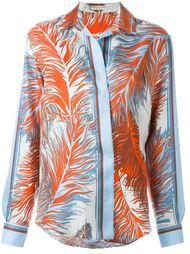 рубашка с принтом перьев Emilio Pucci