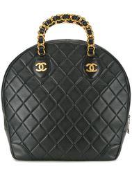 стеганая сумка с логотипом  Chanel Vintage