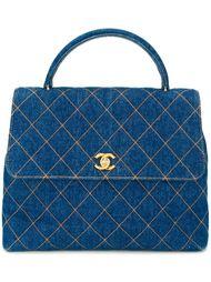 джинсовая сумка-тоут с логотипом  Chanel Vintage