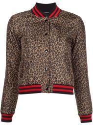 куртка-бомбер 'Roadie' с леопардовым принтом  R13