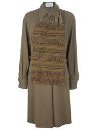 платье с ажурным шарфом Gianfranco Ferre Vintage