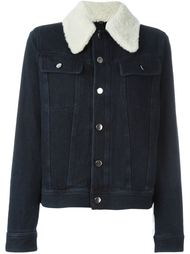 shearling collar denim jacket Mm6 Maison Margiela
