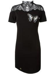 платье с аппликацией бабочки  Philipp Plein
