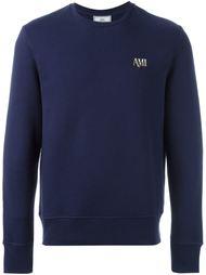 embroidered logo sweatshirt Ami Alexandre Mattiussi