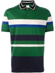 футболка-поло с контрастными полосками   Paul Smith