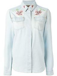 декорированная джинсовая рубашка  Roberto Cavalli