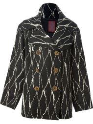 двубортное пальто John Galliano Vintage
