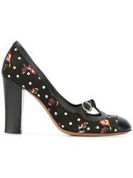 Черные туфли в горох Moschino Vintage