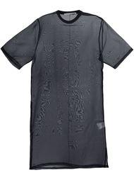 прозрачная футболка свободного кроя Givenchy