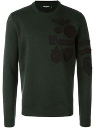 свитер с нашивкой  Dsquared2