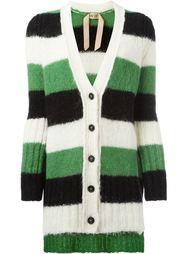 striped V-neck cardigan Nº21