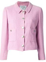 укороченный пиджак на пуговицах Chanel Vintage