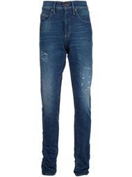 джинсы с полосатым принтом Off-White