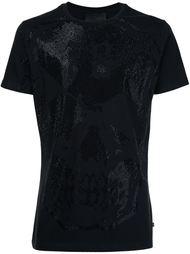 декорированная футболка с принтом черепа  Philipp Plein