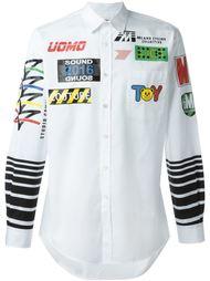рубашка с принтом гоночной тематики Moschino