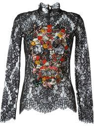 embellished skull lace top Philipp Plein