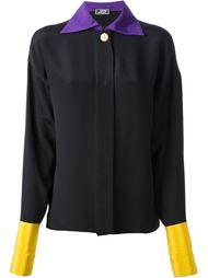 рубашка с контрастным воротником Versace Vintage