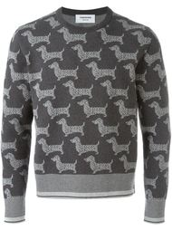 dog print sweatshirt Thom Browne