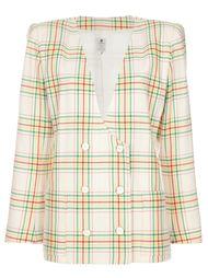 пиджак в шотландку Emanuel Ungaro Vintage
