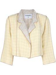 укороченный пиджак с юбкой Chanel Vintage