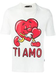 love heart print T-shirt Love Moschino