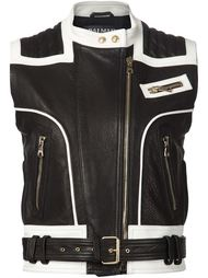байкерская куртка без рукавов Balmain