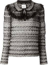 тканая блузка Chanel Vintage