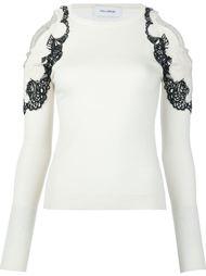 свитер с кружевной аппликацией Yigal Azrouel