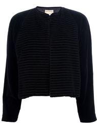 укороченный бархатный пиджак Versace Vintage