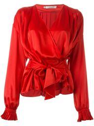 блузка с запахом Christian Dior Vintage
