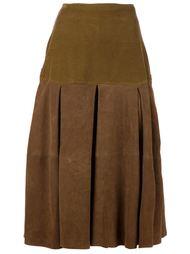 замшевая юбка Versace Vintage