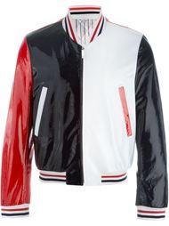 куртка-бомбер дизайна колор-блок Thom Browne