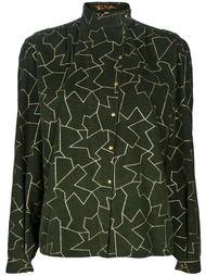 блузка с белым узором из линий Thierry Mugler Vintage