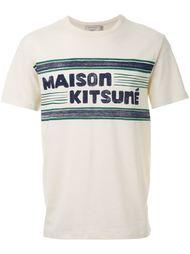 футболка 'Letters Stripes' Maison Kitsuné