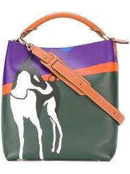 сумка-тоут с принтом собаки Loewe