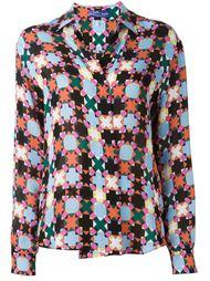 рубашка с геометрическим принтом  Emilio Pucci