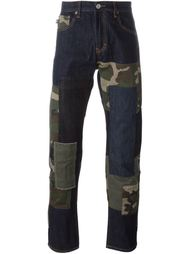 лоскутные джинсы  Mostly Heard Rarely Seen
