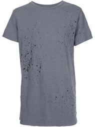 футболка с потертой отделкой Amiri